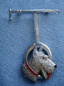 Art Deco Brooch - Terrier Dog by Charles Horner (Sold)